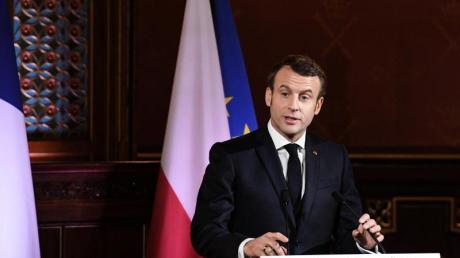 Der französische Präsident Emmanuel Macron strebt eine europäische Strategiedebatte über die Rolle der französichen Nulear-Abschreckung an.