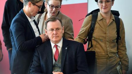 «Ich bin staatspolitisch bereit, die Verantwortung zu übernehmen und ich strecke die Hände aus in Richtung CDU und FDP», sagt Linken-Politiker Bodo Ramelow.