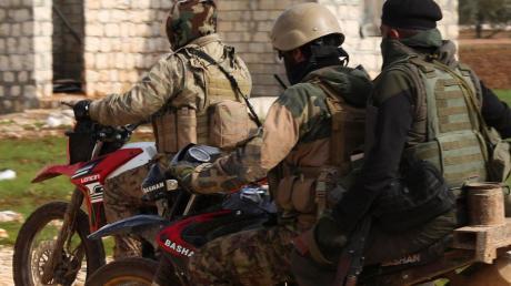 Von der Türkei unterstützte Rebellen sind in Idlib in der Defensive.