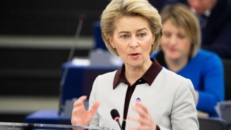 «Es sind etwa 75 Milliarden Euro weniger für die gesamte Periode»: EU-Kommissionschefin Ursula von der Leyen.