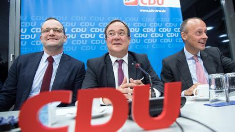 Drei Männer für die Union (von links): Jens Spahn, Armin Laschet und Friedrich Merz. Sie haben die besten Chancen auf die Kanzlerkandidatur.