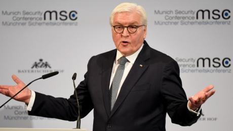 Bundespräsident Frank-Walter Steinmeier eröffnet mit einer Rede die 56. Münchner Sicherheitskonferenz.