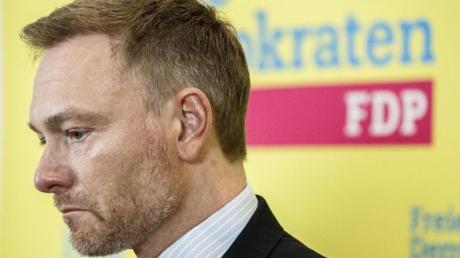 FDP-Chef Christian Lindner vergangeneWoche bei einer Pressekonferenz im Bundestag.