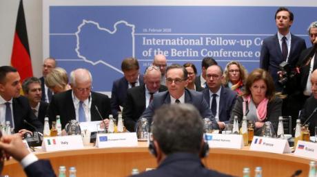 Außenminister Heiko Maas auf dem Libyen-Treffen während der Münchner Sicherheitskonferenz.