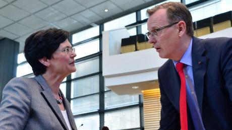 Christine Lieberknecht und Bodo Ramelow verstehen sich gut. Ihre Parteien nicht.