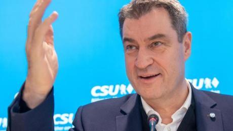 Nicht ohne Mitsprache der Schwesterpartei: CSU-Chef Markus Söder will beim Kanzlerkandidaten der Union mitreden.