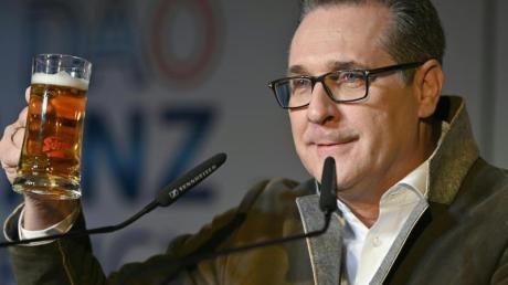 Heinz-Christian Strache, ehemaliger FPÖ-Chef, beim Aschermittwochtreffen der Allianz für Österreich (DAÖ).