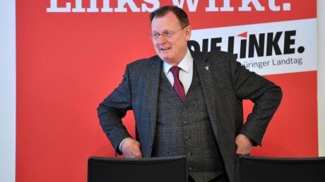 Bodo Ramelow im Landtag vonErfurt. Am 4. März soll in Thüringen ein neuer Ministerpräsident gewählt werden.