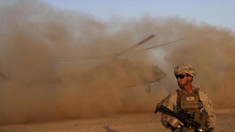 Ein US-Marinesoldat während eines gemeinsamen Manövers mit der afghanischen Armee.