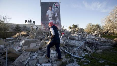 Trümmer einer zerstörten Wohnung in Ramallah.