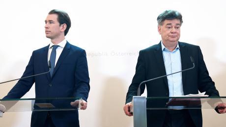 Einig, dass sie sich nicht einig sind: der konservative Kanzler Sebastian Kurz (links) und sein grüner Vize Werner Kogler.