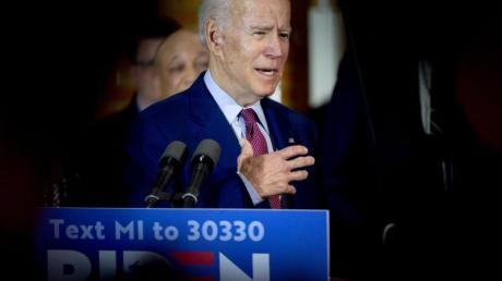 Joe Biden spricht auf einer Wahlkampfveranstaltung.