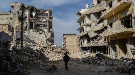 Was von der Stadt Ariha in Idlib übrig blieb...Immerhin bedeutet die Waffenruhe eine Atempause für die geschundenen Menschen in der Rebellen-Enklave.