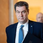 Markus Söder, Ministerpräsident von Bayern, kündigt Ausgangsbeschränkungen für den Freistaat an.