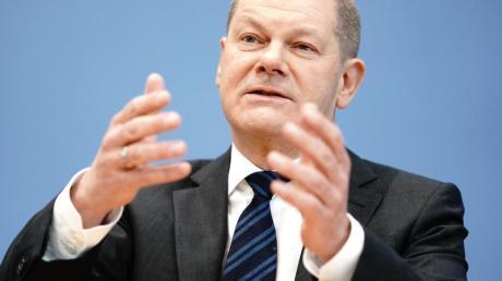 Finanzminister Olaf Scholz vergangene Woche während einer Pressekonferenz zu den wirtschaftlichen Auswirkungen der Coronakrise.