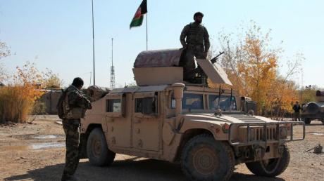 Afghanische Sicherheitskräfte.