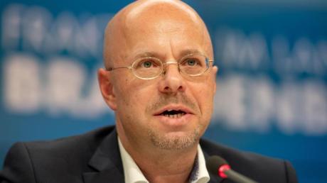 Andreas Kalbitz Mitte Dezember während einer Pressekonferenz der AfD im Landtag in Potsdam.