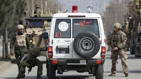 Britische Soldaten Anfang März bei einem Einsatz in Kabul.