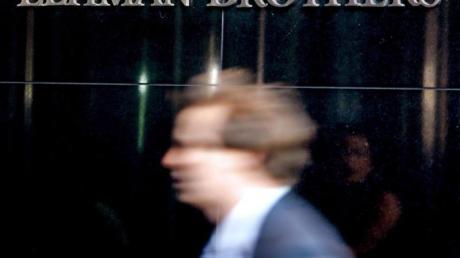 Die Zentrale der US-Investmentbank Lehman Brothers in New York im September 2008.
