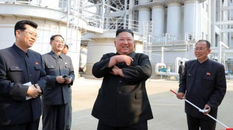 Kim Jong Un soll an einer Zeremonie zur Fertigstellung einer Düngemittelfabrik teilgenommen haben.