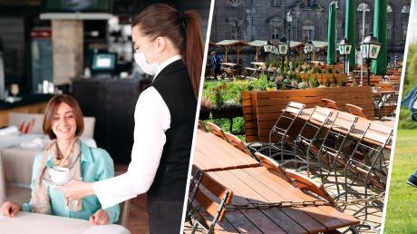 Während Niedersachsen ab Montag die Gastronomie wieder öffnen will (links), bleiben Bayerns Restaurants und Biergärten weiterhin dicht (Mitte). Und Sachsen-Anhalt lockerte am Montag als erstes Bundesland die Kontaktbeschränkungen (rechts).