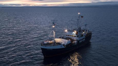 Dieses von der Hilfsorganisation Sea-Eye zur Verfügung gestellte Foto zeigt das deutsche Rettungsschiff «Alan Kurdi».