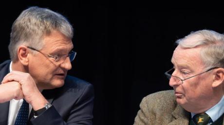 Der AfD-Vorsitzende Jörg Meuthen (l) und Bundestagsfraktionschef Alexander Gauland.