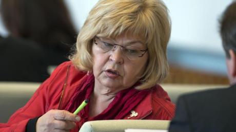 Die damalige Abgeordnete im Landtag von Mecklenburg-Vorpommern, Barbara Borchardt (Die Linke).