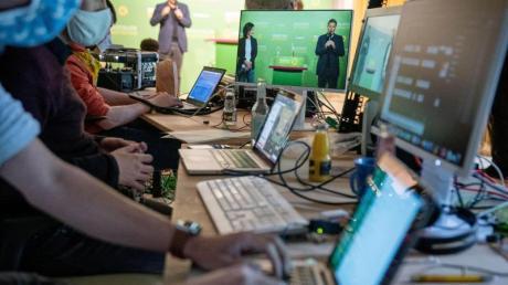 Parteitage wie hier bei den Grünen sollen künftig online durchgeführt werden können.
