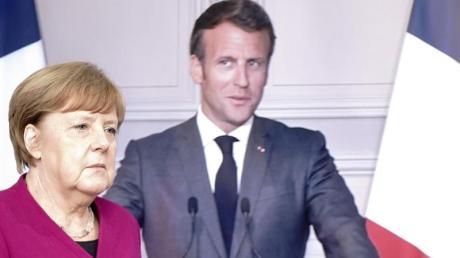 Wollen in der Pandemie-Vorsorge keine nationalen Alleingänge mehr:Bundeskanzlerin Angela Merkel (CDU) und Frankreichs Präsident Emmanuel Macron.