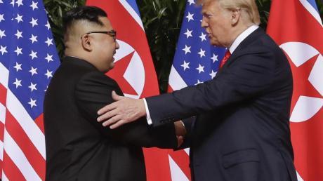US-Präsident Donald Trump und Nordkoreas Machthaber Kim Jong Un im Juni 2018 in Singapur.