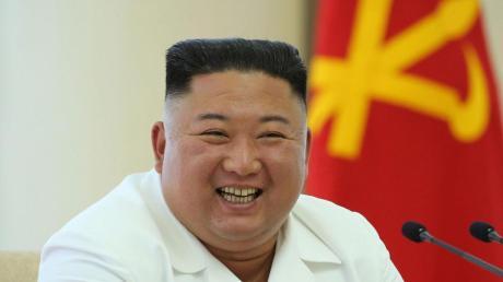 Offensichtlich bester Stimmung: der nordkoreanische Diktator Kim Jong Un. Doch die Töne aus Pjöngjang gegenüber Südkorea werden wieder schärfer.
