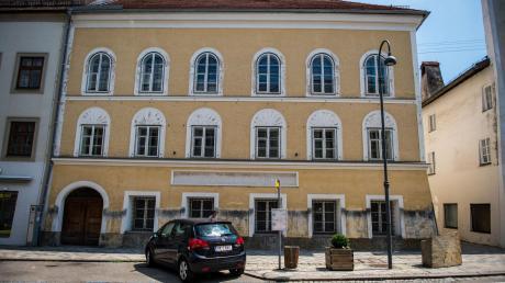 Adolf Hitlers Geburtshaus in Braunau.