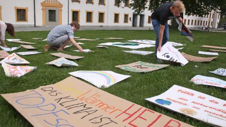 Klima-Aktivisten machten Ende Mai in Kempten auf sich aufmerksam.