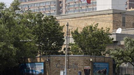 Die kanadische Botschaft in Peking. Kritiker werfen China «Geiseldiplomatie» vor.