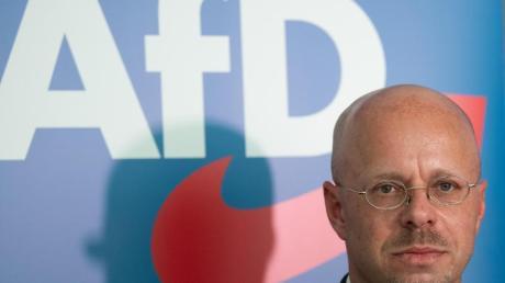 Andreas Kalbitz Mitte Mai im Landtag von Brandenburg.