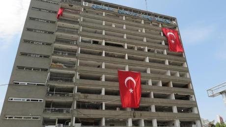 Das von Putschisten angegriffene Polizei-Hauptquartier in Ankara, aufgenommen im August 2016.