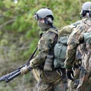 KSK-Soldaten bei einer Übung in Schleswig-Holstein.