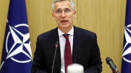 Nato-Generalsekretär Jens Stoltenberg bei einer Videokonferenz am 17. Juni.