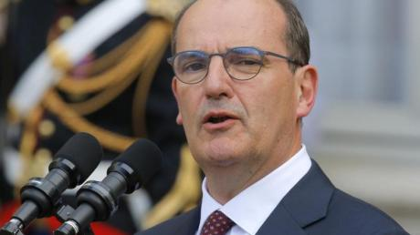 Nach der Amtsübergabe: Jean Castex hält am 3. Juli eine Rede.