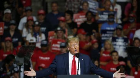 Donald Trump im Juni während der Auftaktwahlkampfveranstaltung in Tulsa.