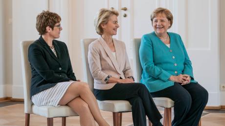 CDU-Frauen in Spitzenpositionen: Annegret Kramp-Karrenbauer, Ursula von der Leyen und Angela Merkel. Doch die Zeit der starken Frauen in der Partei könnte bald vorbei sein.