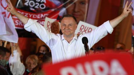 Amtsinhaber Andrzej Duda will Präsident in Polen bleiben.