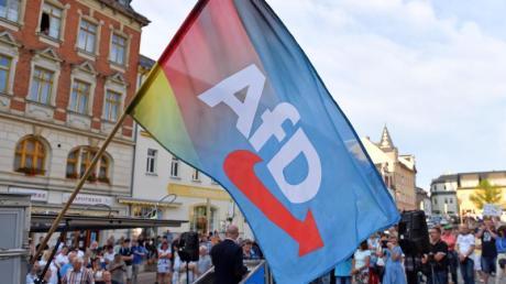 Eine AfD-Kundgebung in Sachsen.