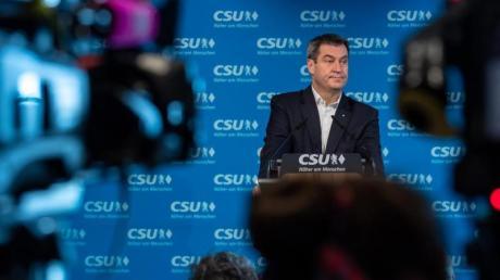 Hat seine Aussage, «Mein Platz ist in Bayern», wirklich bestand? CSU-Chef und bayrischer Ministerpräsident Markus Söder.