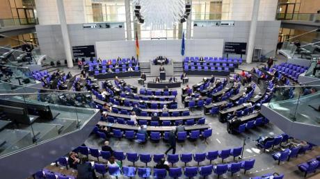 Blick in den Bundestag in Berlin.