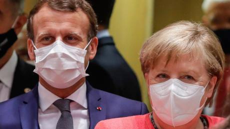 Frankreichs Präsident Emmanuel Macron und Kanzlerin Merkel hatten sich vom EU-Gipfel ein historisches Signal der Einigkeit und Handlungsfähigkeit erhofft. Stattdessen geriet das Treffen zu einem mühseligen Gefeilsche.