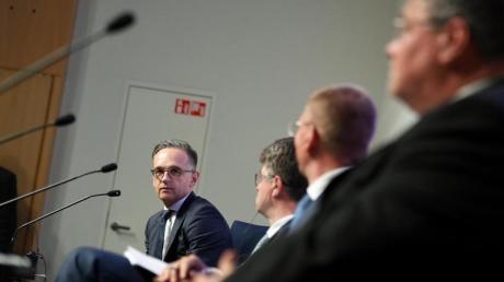 Außenminister Heiko Maas mit seinen baltischen Amtskollegen bei einem Treffen in Tallinn.