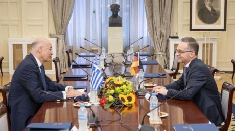 Bundesaußenminister Heiko Maas zu Gast bei seinem griechischen Amtskollege Nikos Dendias inAthen.