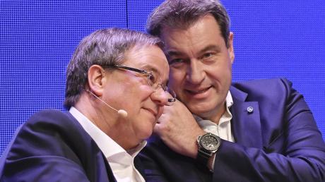 Eigentlich verstehen sich Armin Laschet (links) und Markus Söder gut. Doch das Verhältnis der beiden Ministerpräsidenten hat gelitten.